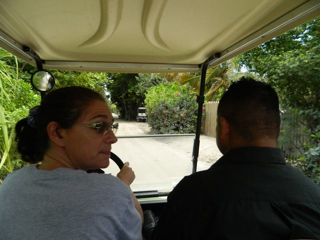 driving a golf cart in north ambergris caye belize