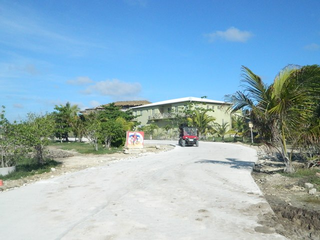 paved road north ambergris caye