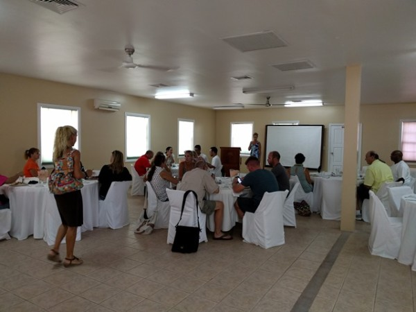New Belize Rotary Club meeting at Banyan Bay
