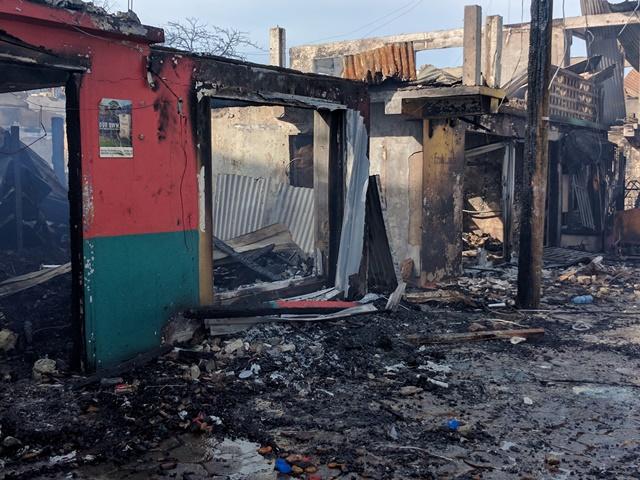 Middle Street fire San Pedro Belize