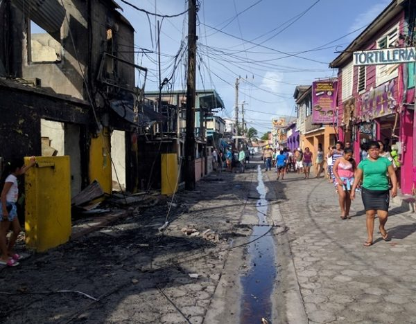 Middle Street fire San Pedro Belize