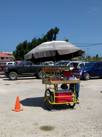 Flying from Belize City to Ambergris Caye