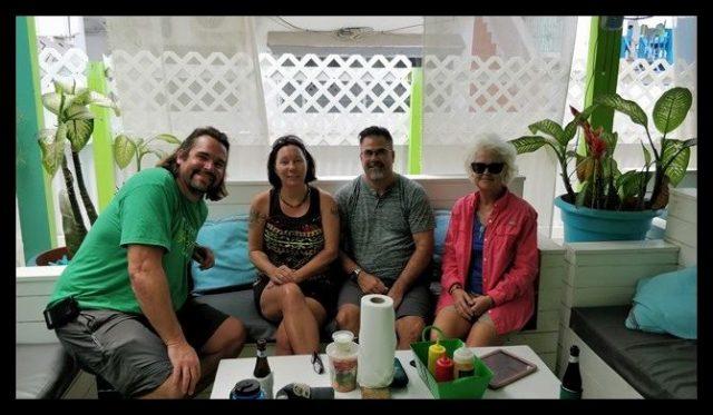 Poso LOco's food court San Pedro Belize